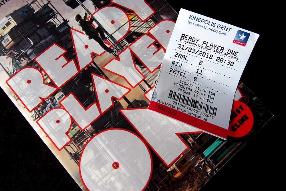 Ready Player One cinema ticket