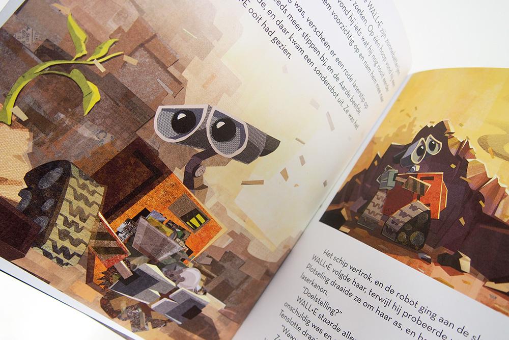 Wall-E in een schattig kinderboekje