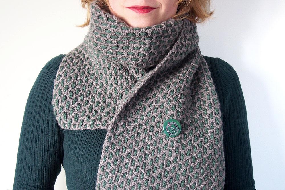 Slytherin Sjaal gemaakt door Liesbet, Zwartraafje