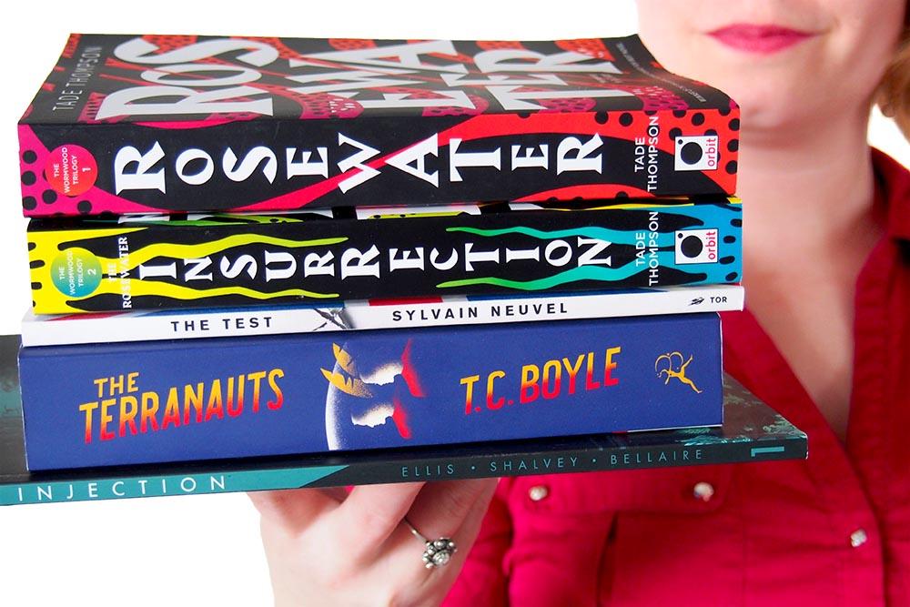 Deze 5 boeken kocht ik in Stockholm