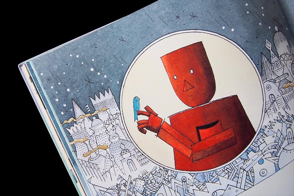 De robot en het blauwe vogeltje: een ontroerend prentenboek