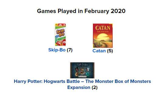 Bordspellen februari 2020
